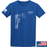 Fitty% Pistol - 2011 T-Shirt T-Shirts Small / Blue by Ballistic Ink - Made in America USA