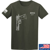 Fitty% Pistol - 2011 T-Shirt T-Shirts Small / Military Green by Ballistic Ink - Made in America USA