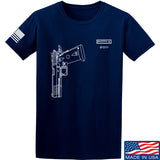 Fitty% Pistol - 2011 T-Shirt T-Shirts Small / Navy by Ballistic Ink - Made in America USA