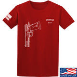 Fitty% Pistol - 2011 T-Shirt T-Shirts Small / Red by Ballistic Ink - Made in America USA