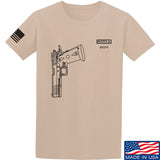 Fitty% Pistol - 2011 T-Shirt T-Shirts Small / Sand by Ballistic Ink - Made in America USA