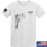 Fitty% Pistol - 2011 T-Shirt T-Shirts Small / White by Ballistic Ink - Made in America USA
