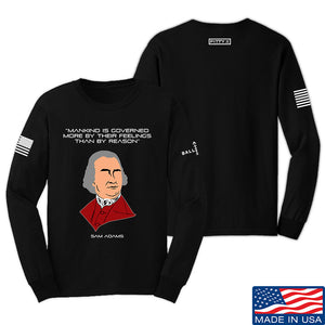 Fitty% Feelings vs Reason Long Sleeve T-Shirt Long Sleeve Small / Navy by Ballistic Ink - Made in America USA