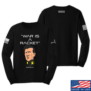 Fitty% War Is A Racket Long Sleeve T-Shirt Long Sleeve Small / White by Ballistic Ink - Made in America USA