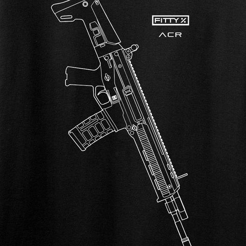 Fitty% USA Gun - ACR Long Sleeve T-Shirt Long Sleeve [variant_title] by Ballistic Ink - Made in America USA