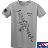 Fitty% USA Gun - Colt M733 T-Shirt T-Shirts Small / Light Grey by Ballistic Ink - Made in America USA