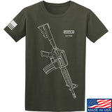 Fitty% USA Gun - Colt M733 T-Shirt T-Shirts Small / Military Green by Ballistic Ink - Made in America USA