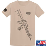 Fitty% USA Gun - Colt M733 T-Shirt T-Shirts Small / Sand by Ballistic Ink - Made in America USA