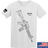 Fitty% USA Gun - Colt M733 T-Shirt T-Shirts Small / White by Ballistic Ink - Made in America USA