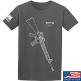 Fitty% USA Gun - M16A4 T-Shirt T-Shirts Small / Charcoal by Ballistic Ink - Made in America USA