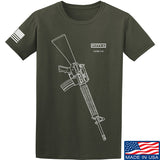 Fitty% USA Gun - M16A4 T-Shirt T-Shirts Small / Military Green by Ballistic Ink - Made in America USA