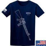 Fitty% USA Gun - M16A4 T-Shirt T-Shirts Small / Navy by Ballistic Ink - Made in America USA