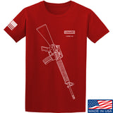 Fitty% USA Gun - M16A4 T-Shirt T-Shirts Small / Red by Ballistic Ink - Made in America USA