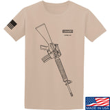 Fitty% USA Gun - M16A4 T-Shirt T-Shirts Small / Sand by Ballistic Ink - Made in America USA