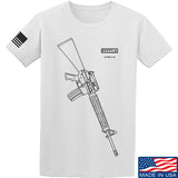 Fitty% USA Gun - M16A4 T-Shirt T-Shirts Small / White by Ballistic Ink - Made in America USA