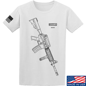Fitty% USA Gun - M4 T-Shirt T-Shirts Small / Black by Ballistic Ink - Made in America USA