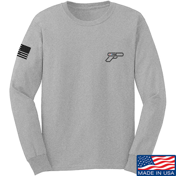 Gunsdaily Chect Gun Logo Long Sleeve T-Shirt