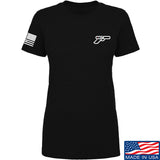 Ladies Gunsdaily Chect Gun Logo T-Shirt