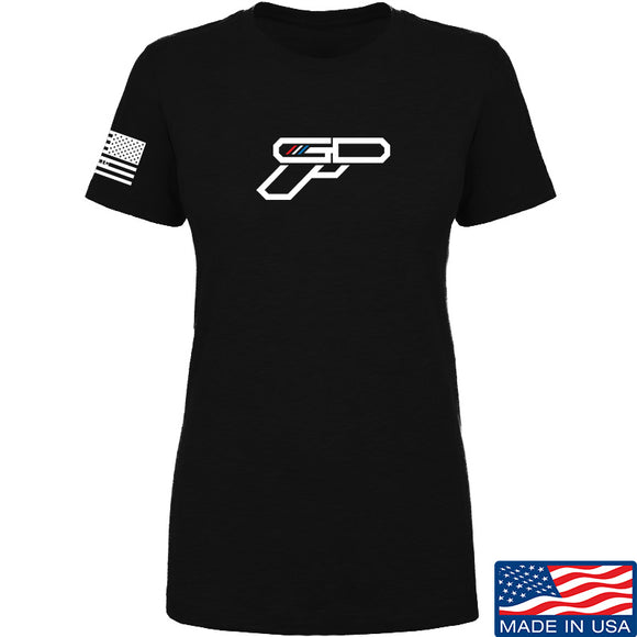 Ladies Gunsdaily Full Gun Logo T-Shirt