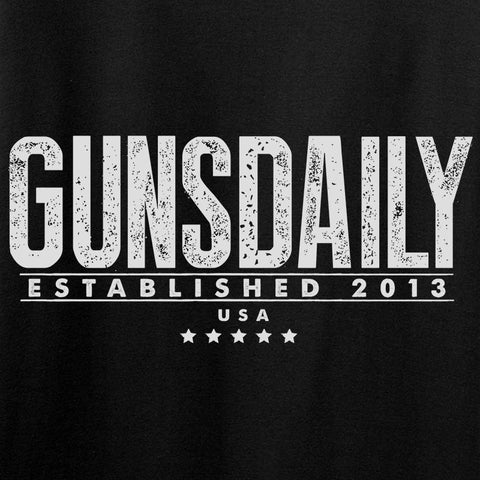 Ladies Gunsdaily Text Chest Logo T-Shirt