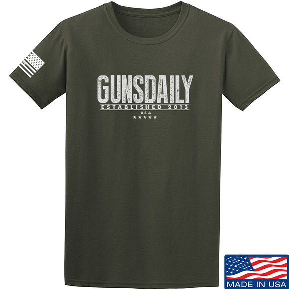 Gunsdaily Full Text Logo T-Shirt