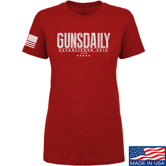 Ladies Gunsdaily Full Text Logo T-Shirt