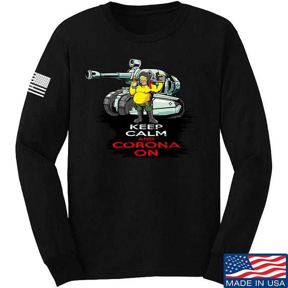Keep Calm & Corona on Long Sleeve T-Shirt
