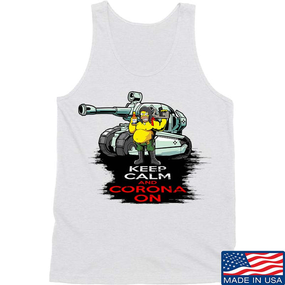 Keep Calm & Corona on Tank