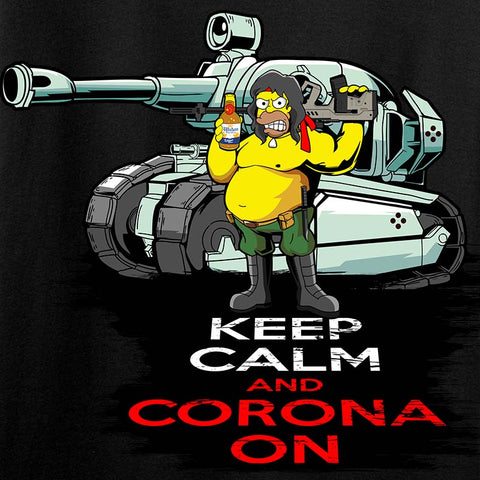 Ladies Keep Calm & Corona on T-Shirt