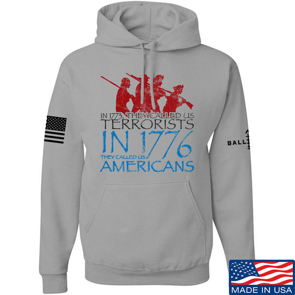 IV8888 1773 vs 1776 Hoodie Hoodies Small / Light Grey by Ballistic Ink - Made in America USA