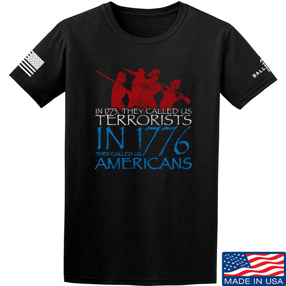 IV8888 1773 vs 1776 T-Shirt T-Shirts Small / Black by Ballistic Ink - Made in America USA