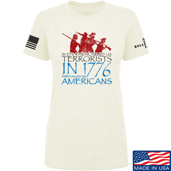 IV8888 Ladies 1773 vs 1776 T-Shirt T-Shirts SMALL / Cream by Ballistic Ink - Made in America USA
