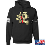 IV8888 A .22 Will Kill the Crap out of You Hoodie Hoodies Small / Black by Ballistic Ink - Made in America USA