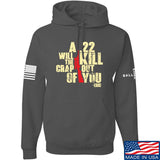 IV8888 A .22 Will Kill the Crap out of You Hoodie Hoodies Small / Charcoal by Ballistic Ink - Made in America USA