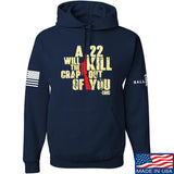 IV8888 A .22 Will Kill the Crap out of You Hoodie Hoodies Small / Navy by Ballistic Ink - Made in America USA