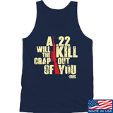 IV8888 A .22 Will Kill the Crap out of You Tank Tanks SMALL / Navy by Ballistic Ink - Made in America USA