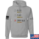 IV8888 300 BLK Hoodie Hoodies Small / Light Grey by Ballistic Ink - Made in America USA