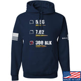 IV8888 300 BLK Hoodie Hoodies Small / Navy by Ballistic Ink - Made in America USA