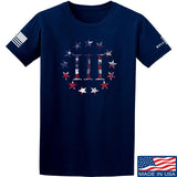 IV8888 Three Percenter T-Shirt T-Shirts Small / Navy by Ballistic Ink - Made in America USA