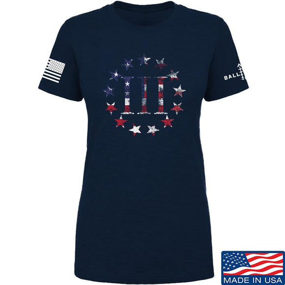 IV8888 Ladies Three Percenter T-Shirt T-Shirts SMALL / Navy by Ballistic Ink - Made in America USA