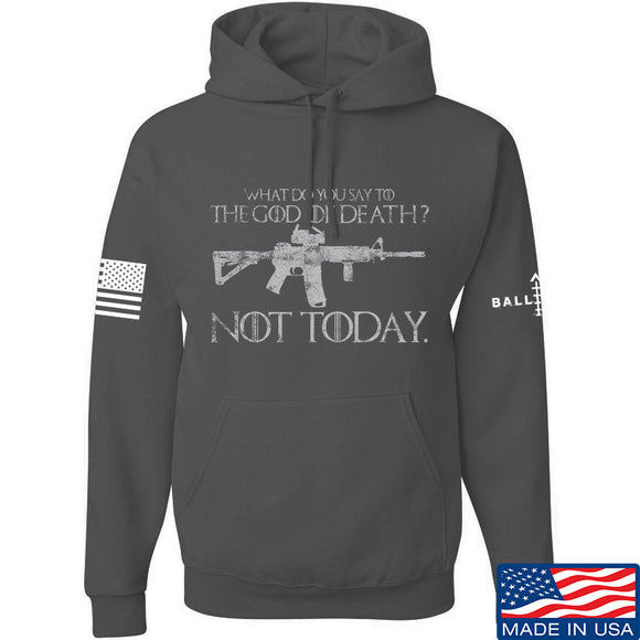 IV8888 AR15 Not Today Hoodie Hoodies Small / Charcoal by Ballistic Ink - Made in America USA