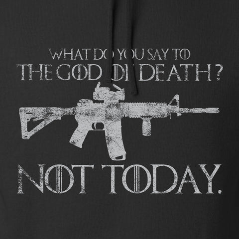 IV8888 AR15 Not Today Hoodie Hoodies [variant_title] by Ballistic Ink - Made in America USA