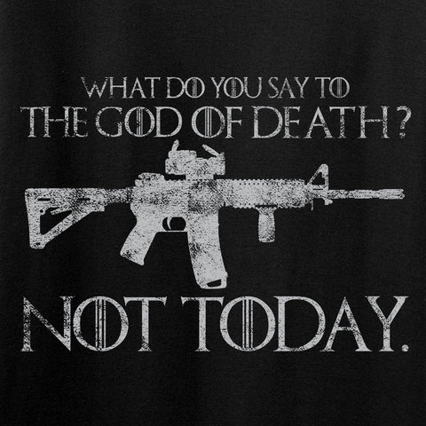 IV8888 Ladies AR15 Not Today V-Neck T-Shirts, V-Neck [variant_title] by Ballistic Ink - Made in America USA