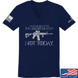 IV8888 Ladies AR15 Not Today V-Neck T-Shirts, V-Neck SMALL / Navy by Ballistic Ink - Made in America USA