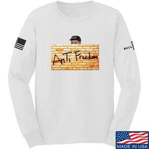 IV8888 ATF (AnTiFreedom) Long Sleeve T-Shirt Long Sleeve Small / Black by Ballistic Ink - Made in America USA