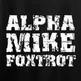IV8888 Alpha Mike Foxtrot Long Sleeve T-Shirt Long Sleeve [variant_title] by Ballistic Ink - Made in America USA