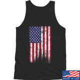 IV8888 Distressed Flag Tank Tanks SMALL / Black by Ballistic Ink - Made in America USA