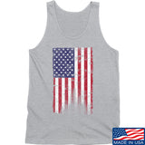 IV8888 Distressed Flag Tank Tanks SMALL / Light Grey by Ballistic Ink - Made in America USA