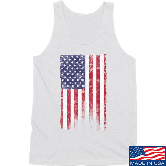 IV8888 Distressed Flag Tank Tanks SMALL / White by Ballistic Ink - Made in America USA