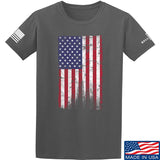 IV8888 Distressed Flag T-Shirt T-Shirts Small / Charcoal by Ballistic Ink - Made in America USA